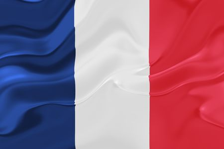 Flag of France, national country symbol illustration wavy fabric Stock Illustration - 6287554