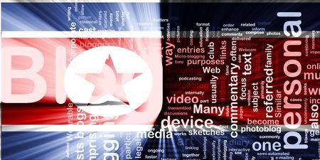 Flag of North Korea, national country symbol illustration internet blog Stock Illustration - 6287484