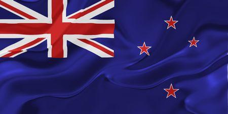 tokelau: Flag of Tokelau, national country symbol illustration wavy fabric Stock Photo