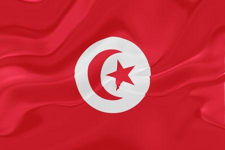 Flag of Tunisia, national country symbol illustration wavy fabric Stock Illustration - 6287669