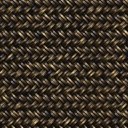 twill: Woven basket twill texture seamlessly tiling background illustration Stock Photo