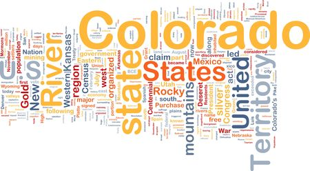 colorado rocky mountains: Background concept wordcloud illustration of Colorado American state