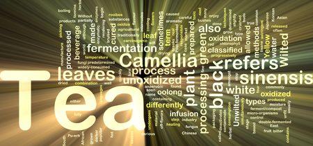 oolong: Background concept illustration of tea beverage drink glowing light