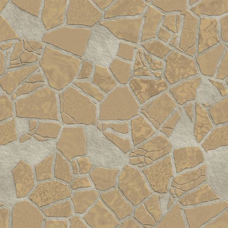 cracked wall: Broken stone mosaic pattern, background texture wallpaper illustration Stock Photo