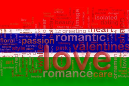 Flag of Gambia, national country symbol illustration love romance illustration