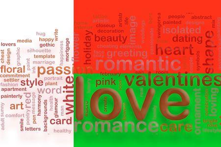 Flag of Madagascar, national country symbol illustration love romance illustration