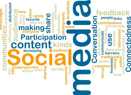 clouds making: Word cloud tags concept illustration of social media