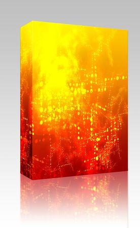 interchange: Software package box Abstract background of technical data information interchange Stock Photo