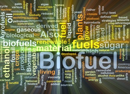 biofuel: Background concept illustration of biofuel renewable fuel glowing light Stock Photo