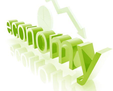 downturn: Finance economy trend concept illustration worsening downwards Stock Photo