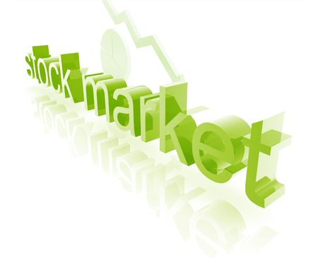 stockmarket: Stock market estate economy trend concept illustration worsening downwards