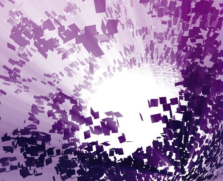 blown: Abstract background illustration of shattered exploding geometric shapes
