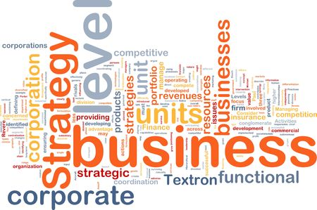 Background concept wordcloud illustration of business level strategy Stock Illustration - 6295450