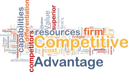 lower value: Background concept wordcloud illustration of business competitive advantage