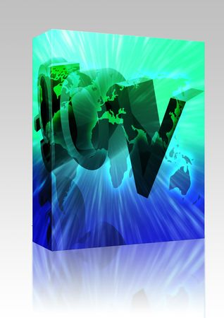 gov: Software package box Dot gov internet web url international worldwide illustration