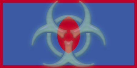 guam: Flag of Guam, national country symbol illustration health warning alert