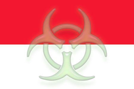 Flag of Monaco, national country symbol illustration health warning alert illustration