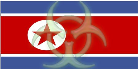 Flag of North Korea, national country symbol illustration health warning alert Stock Illustration - 6301779