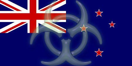 tokelau: Flag of Tokelau, national country symbol illustration health warning alert