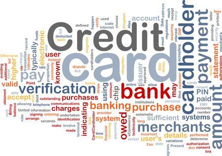 Word cloud concept illustration of credit card illustration