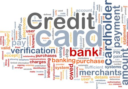 cardholder: Word cloud concept illustration of credit card