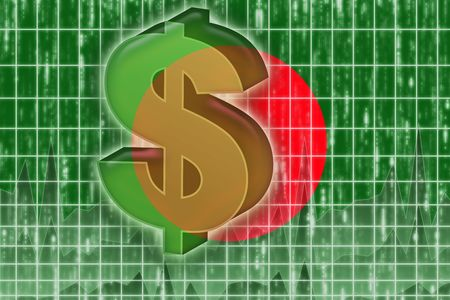 Flag of Bangladesh, national country symbol illustration finance economy dollar Stock Illustration - 6316432