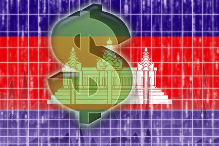 Flag of Cambodia, national symbol illustration clipart finance economy dollar Stock Illustration - 6313309
