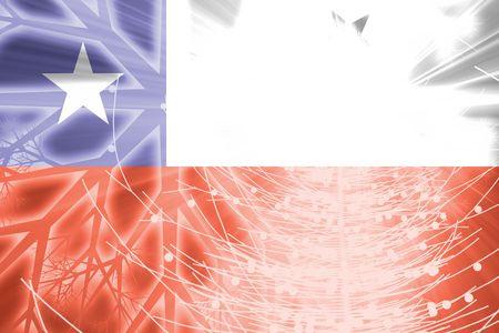 Drapeau du Chili, national symbole illustration clipart vacances de Noël saison