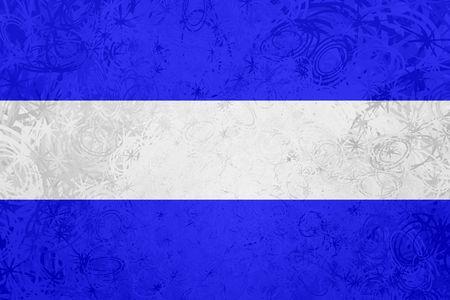 el salvador flag: Flag of El Salvador, national country symbol illustration rough grunge texture Stock Photo