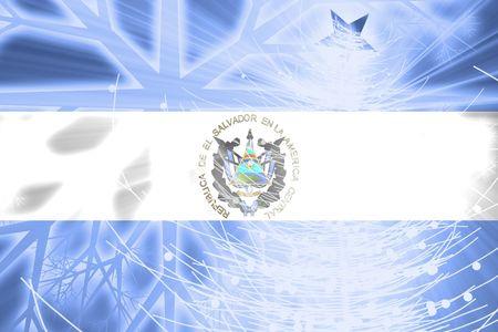 el salvador: Flag of El Salvador, national country symbol illustration christmas holidays season Stock Photo