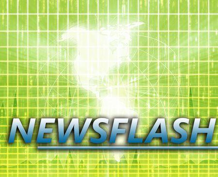 splashscreen: Americas Latest update news newsflash splash screen announcement illustration