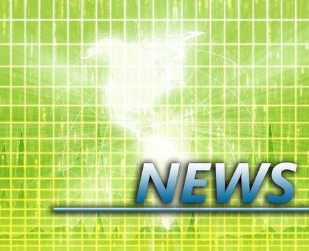 Americas Latest update news newsflash splash screen announcement illustration Stock Illustration - 6314973