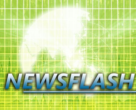 Asia Latest update news newsflash splash screen announcement illustration