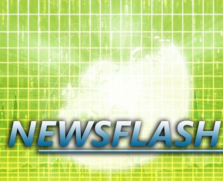 splashscreen: Europe Latest update news newsflash splash screen announcement illustration Stock Photo