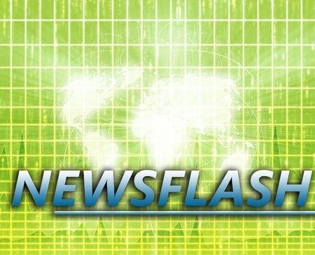 splashscreen: World Latest update news newsflash splash screen announcement illustration