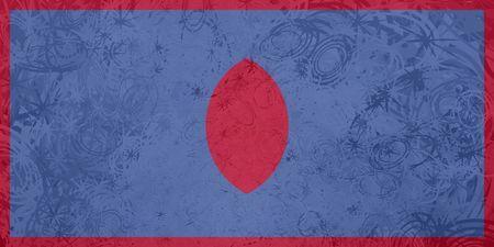 guam: Flag of Guam, national country symbol illustration rough grunge texture Stock Photo