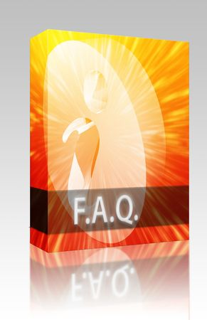 asked: Software package box FAQ Information frequently asked questions help support illustration
