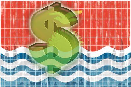 kiribati: Flag of Kiribati , national country symbol illustration finance economy dollar Stock Photo