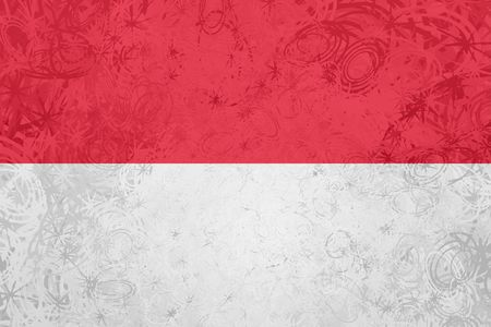 Flag of Monaco, national country symbol illustration rough grunge texture illustration