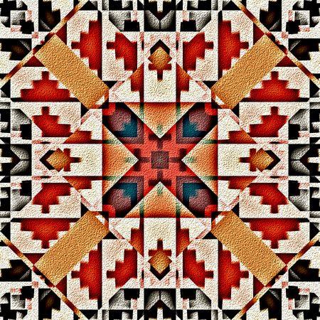 Fondo de diseño nativo americano patrón tradicional de tribales decorativos
