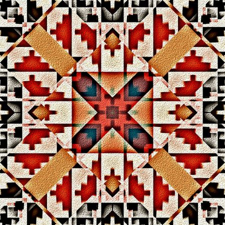 Native american traditional decorative tribal pattern design background photo