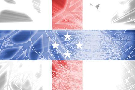 Flag ofNetherland Antilles, national country symbol illustration christmas holidays season