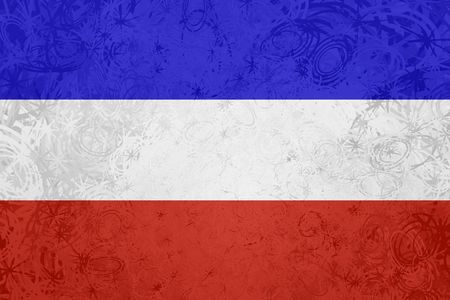 serbia and montenegro: Flag of Serbia and Montenegro, national country symbol illustration rough grunge texture Stock Photo