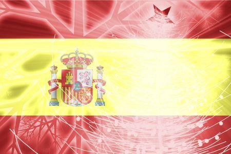 Flag of Spain, national country symbol illustration christmas holidays season Stock Illustration - 6314415
