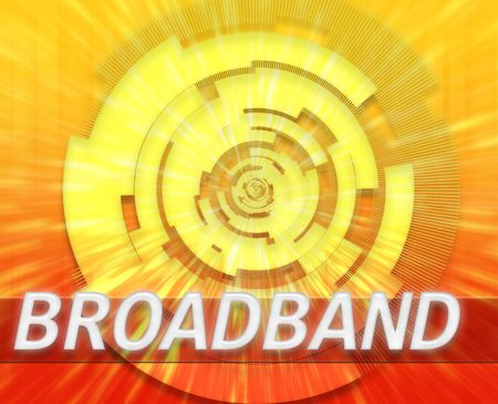 Internet broadband data information communications network technology concept illustration Stock Illustration - 6313318