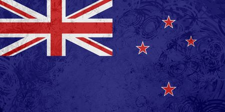 tokelau: Flag of Tokelau, national country symbol illustration rough grunge texture Stock Photo