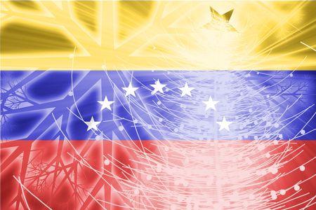 Venezuela flag: Bandera de Venezuela, pa�s nacional s�mbolo ilustraci�n vacaciones de Navidad temporada Foto de archivo