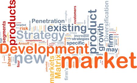 leverage: Background concept wordcloud illustration of new market development
