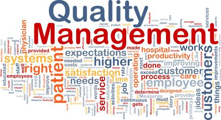 wordcloud: Background concept illustration of business quality management