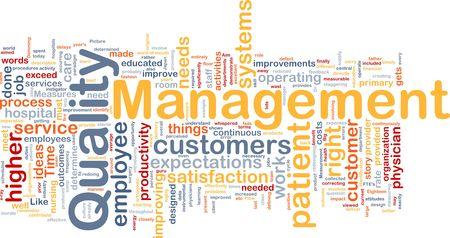 Background concept illustration of business quality management Stock Illustration - 6316398